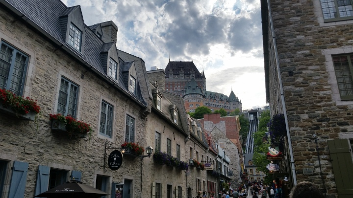 Chateau can be seen from any part of the Old Quebec